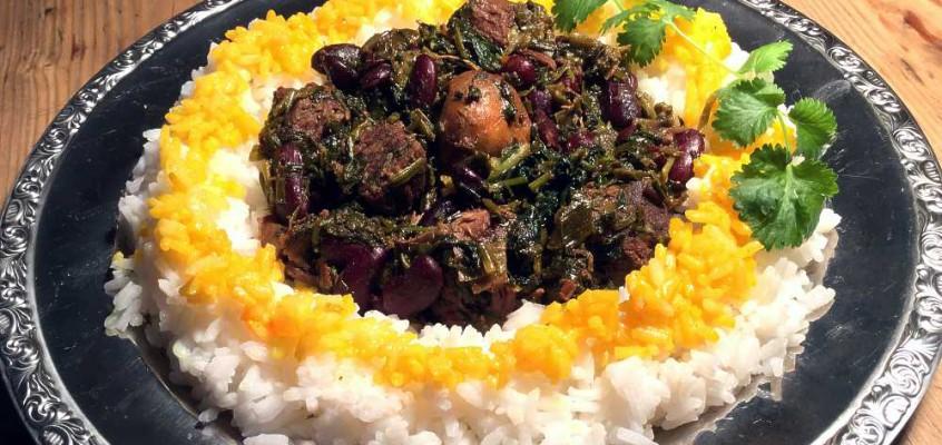 Ghormeh sabsi: Persisk urte- og spinatkjøtt