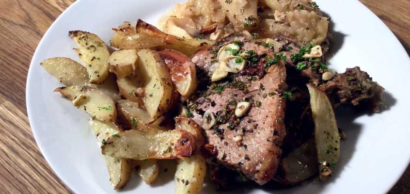 Flamske koteletter: Côtes de porc à la flamande