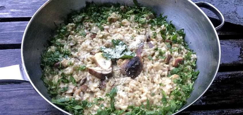 Risotto ai funghi porcini: Italiensk steinsopprisotto