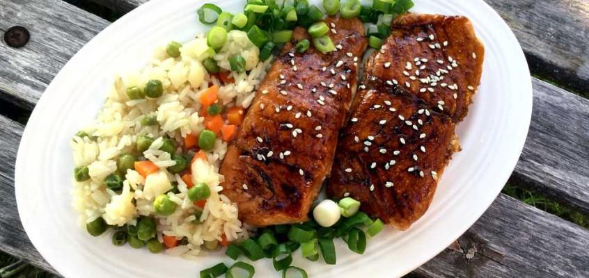 Laks terijaki: Tradisjonell, japansk grillaks